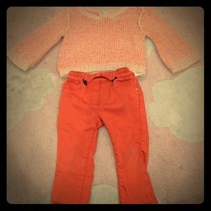 Splendid sweater (6-12m) and kanz pants (9 months)